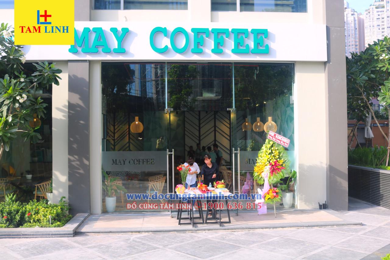 Mâm cúng khai trương quán cafe trọn gói